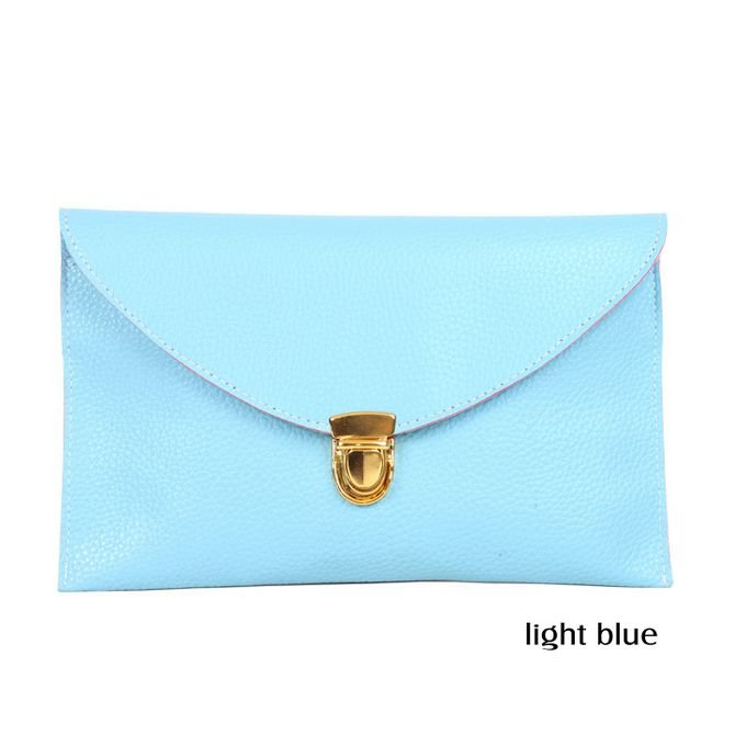 2 in 1 Shoulder and Envelope Lady Clutches Bag (LIGHT BLUE)