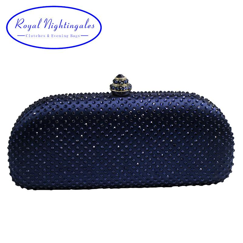 Wholesale Elegante Navy Blue Crystal Box Clutch Bag And Purses Rhinestone  Evening Bags Crossbody Bags Messenger Bags From Fenxin, $55.76| DHgate.Com