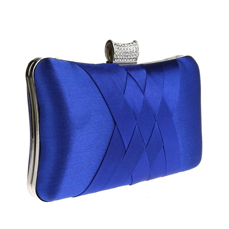 2018 Women Diamonds Evening Hand Bag Blue Clutch Bags Bride Wedding Party  Chain Purse Small Handbag Ladies Clutches Bags Y1890401 Womens Bags Black  Handbag ...