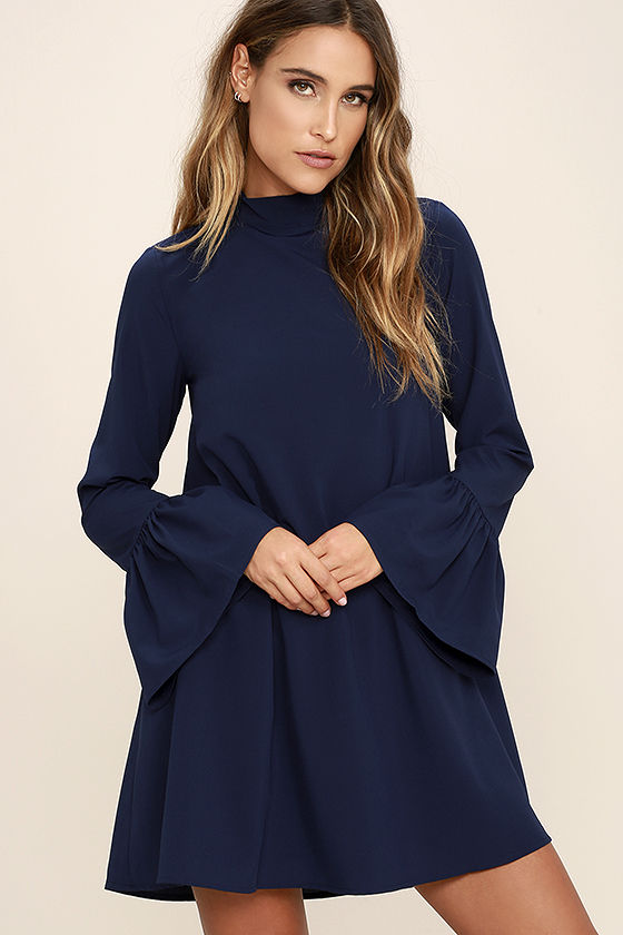 Shift dress in blue – A real all-rounder