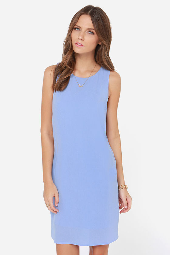 The Bee's Neon Periwinkle Blue Shift Dress
