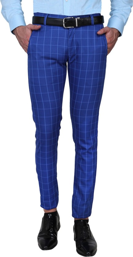 Shaurya-F Slim Fit Men's Blue Trousers