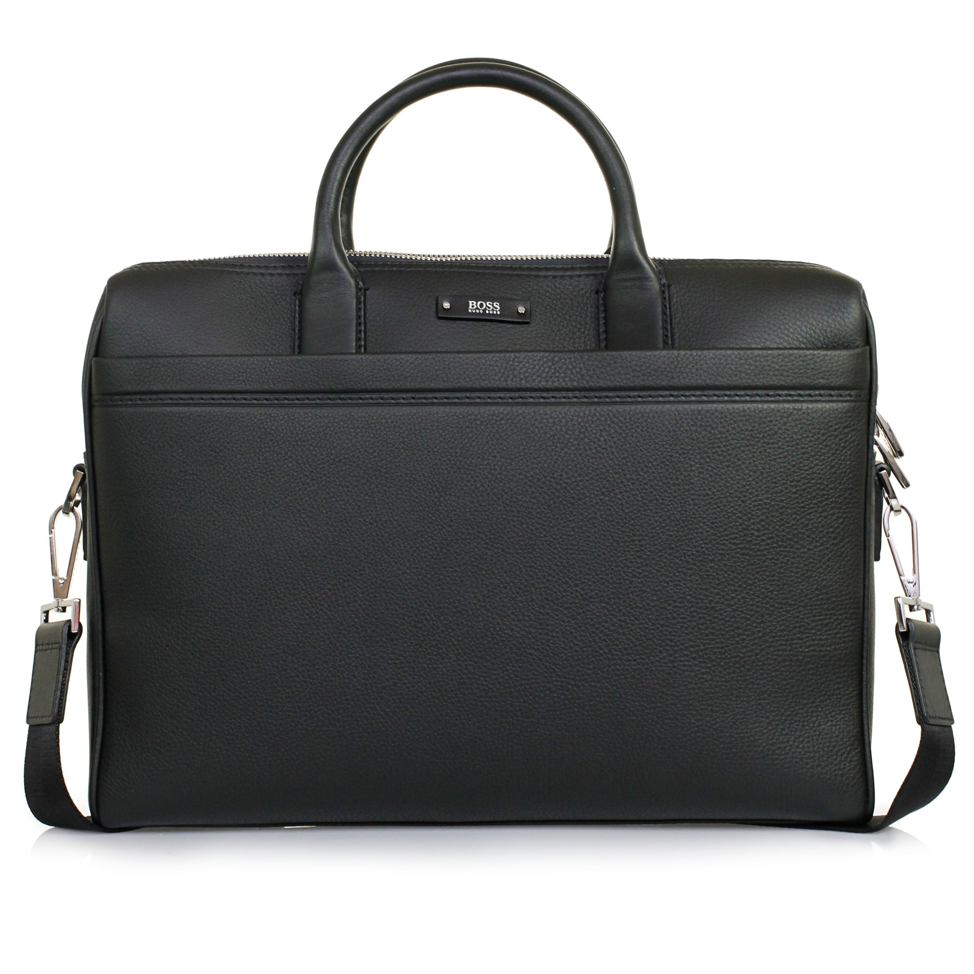 Hugo Boss Traveller_S Doc Black Leather Laptop Bag 50311773
