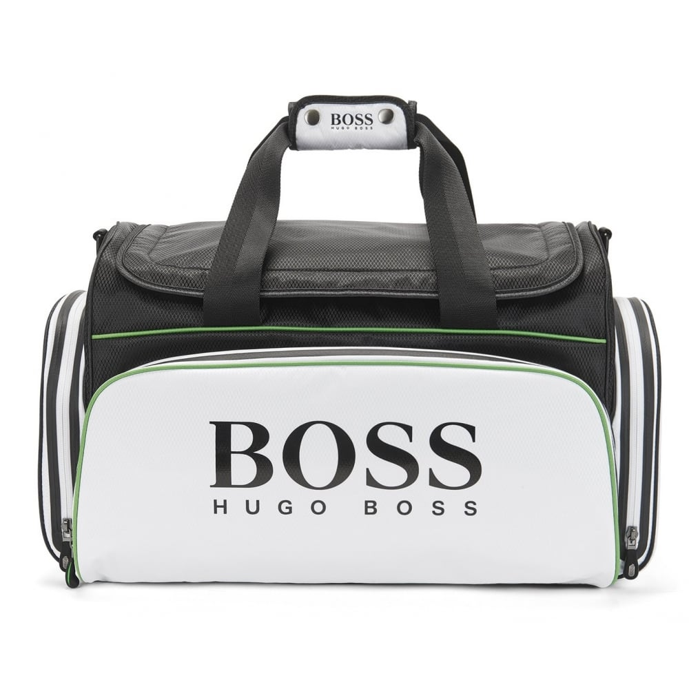 Hugo Boss Green Menu0026#039;s White And Black Holdall Bag