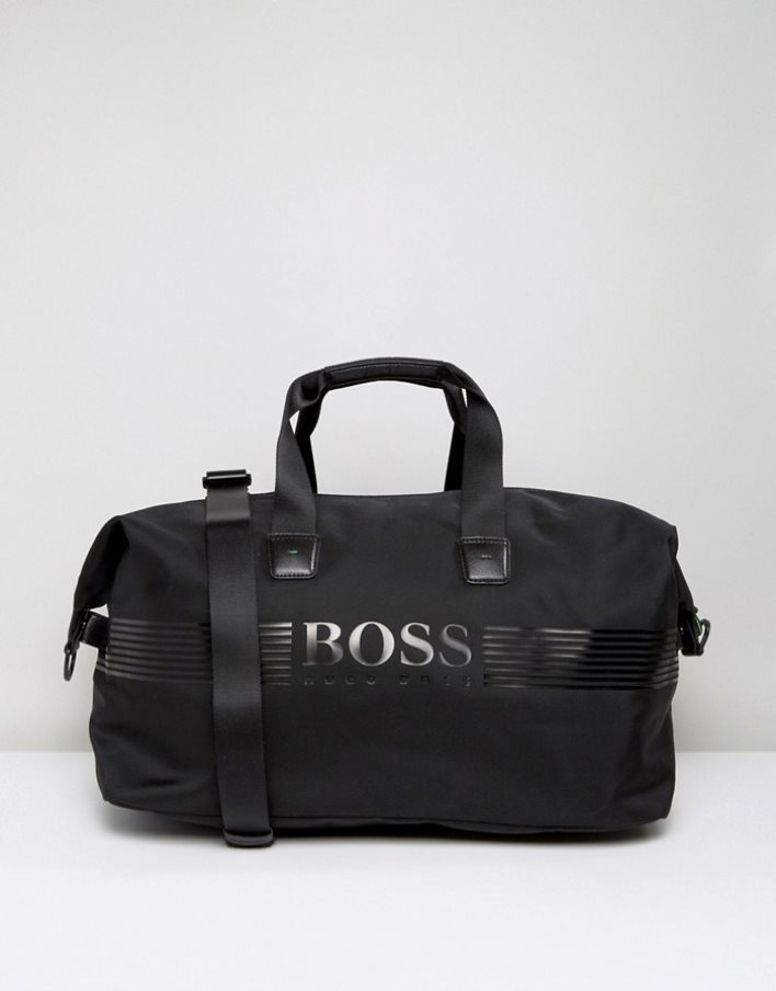 Men BOSS Green by Hugo Boss Pixel Holdall Bag Black [Black] / Hugo Boss