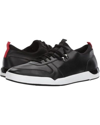 BOSS Hugo Boss - Fusion Leather Sneaker by HUGO (Black) Men's Lace up casual