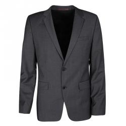 Hugo By Hugo Boss Super 100 Grey Wool Blazer L