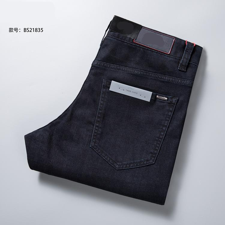 2018 new pure cotton black stretch boss men's jeans.