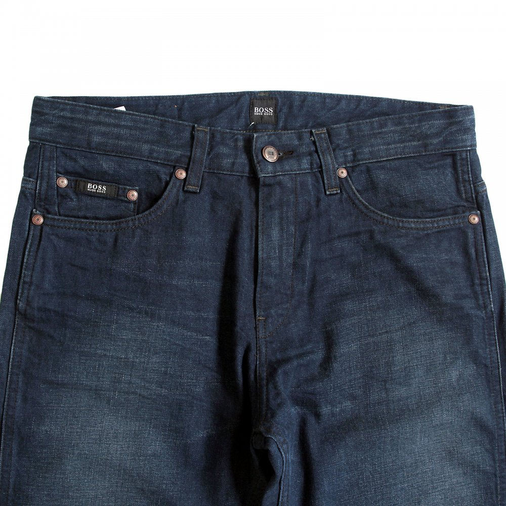 ... HUGO BOSS BLACK Mens Delaware dark slim fit denim jeans ...