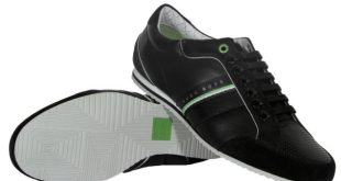 Hugo BOSS Green Victoire LA Men's Fashion Sneakers Shoes 50217374 010 Black