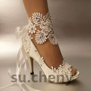 Image is loading su-cheny-3-034-4-heel-white-ivory-