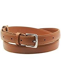 Womens Skinny Leather Belt Solid Color Pin Buckle Simple Waist Belts  Christmas Gifts