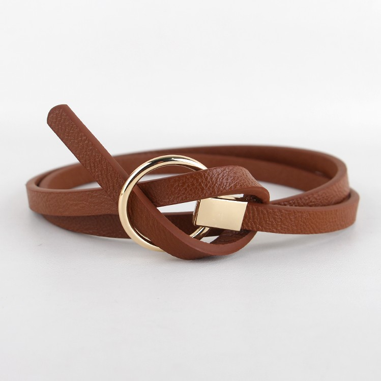 BROWN BELT for women – The belt in brown as eye-catcher