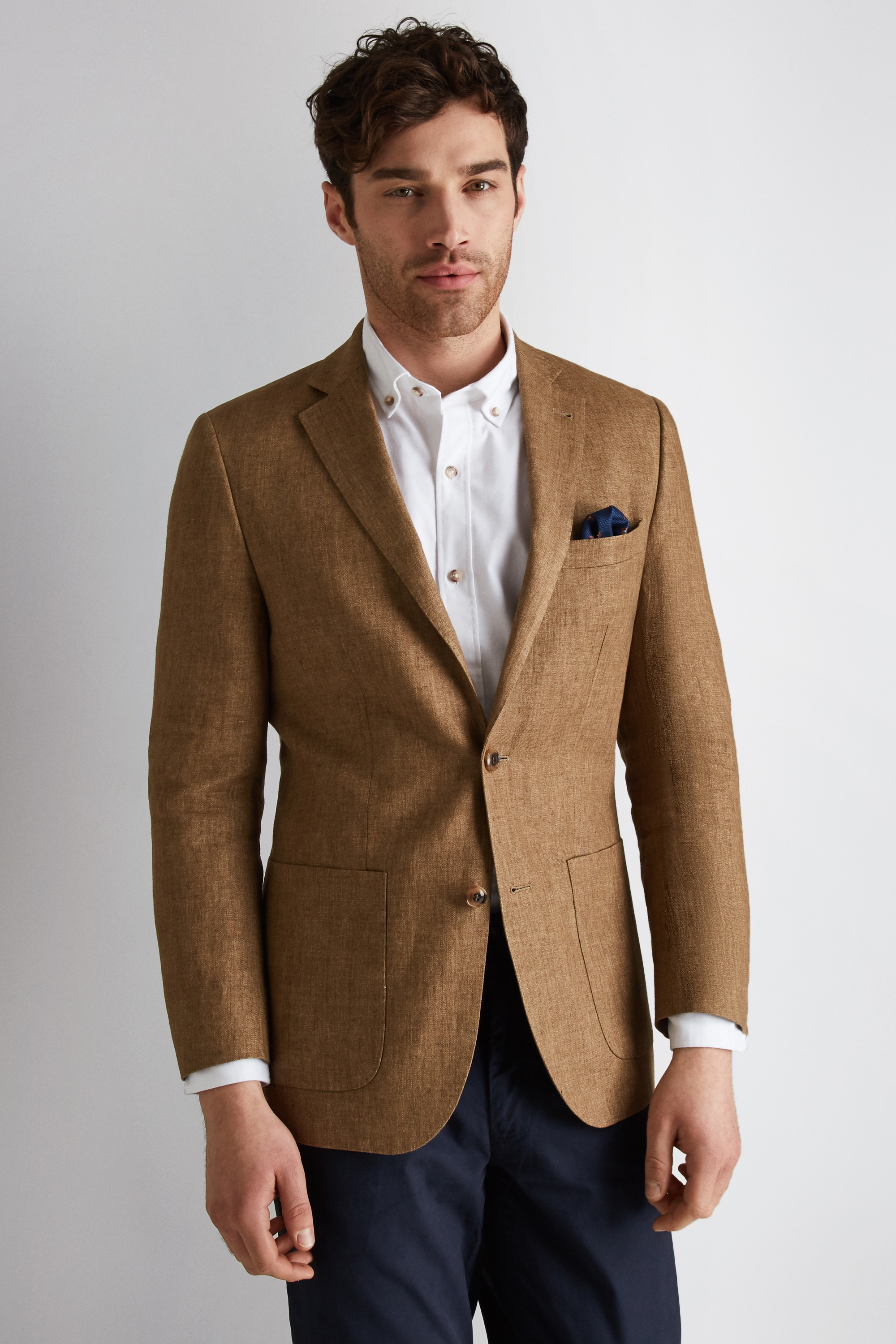 Moss-1851-Mens-Blazer-Tailored-Fit-Tobacco-Brown-