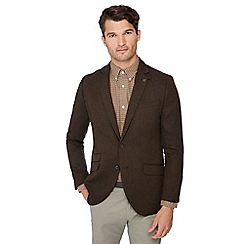 Hammond u0026 Co. by Patrick Grant - Big and tall brown basket weave blazer with
