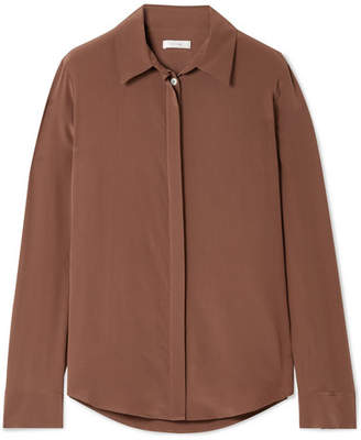 ... The Row Petah Silk Blouse - Brown