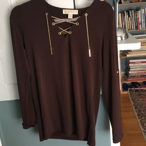 Michael Kors Tops - Michael Kors dark brown blouse