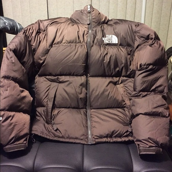 MENS North Face 700 brown down jacket men size S