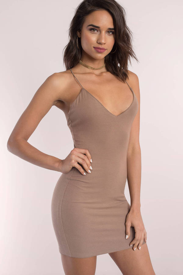 Andy White Ribbed Dress ...