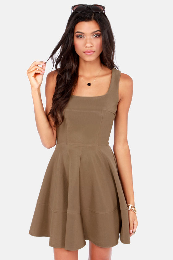 Home Before Daylight Brown Dress