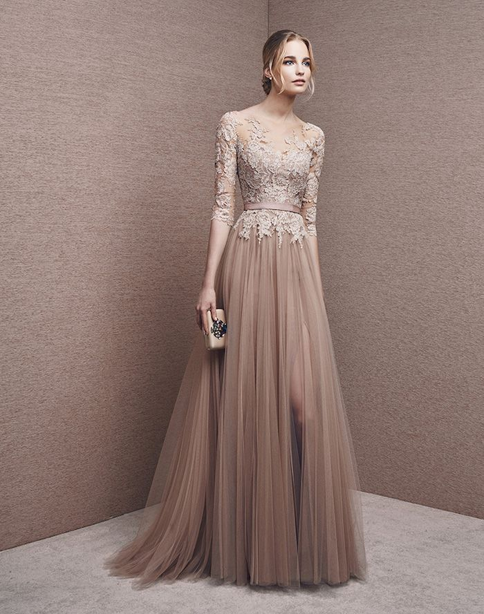 BROWN EVENING DRESSES- for every season