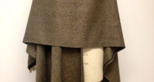 Herringbone Wool Large Oversized Poncho - Brown Poncho - Winter Wraps Capes  Poncho for Men - Brown Wool Mens Poncho Cape - Made in England