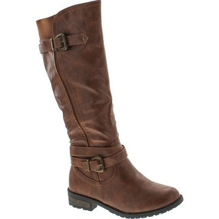 Shop Forever Mango-24 Women's Shaft Side Zipper Knee High Flat Riding Boots  - Free Shipping On Orders Over $45 - Overstock.com - 14948111