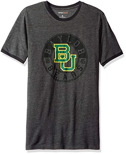 Camp David NCAA Baylor Bears Men's Short Sleeved Heathered Jersey, Small,  Charcoal