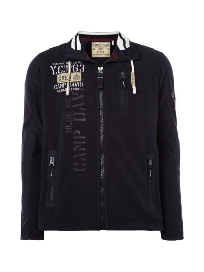 UK Camp David Fleece Jacket With Logo Appliqués Navy #gwiX@D available