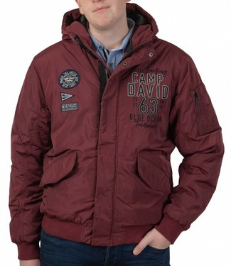 Camp David Camp David ® Padded jacket with artwork and hood
