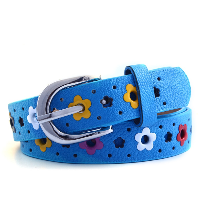 Cute Flower Chain Belt for Kids Red Blue White Yellow Black PU Leather Belts  Boy Girls Buckle Waistband Children Waist Belt-in Belts u0026 Cummerbunds from  ...