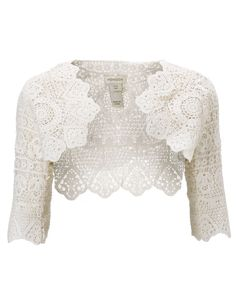 Gabriella Lace Jacket | White | Monsoon Bolero Jacket, Shrug Cardigan,  Crochet Cardigan,