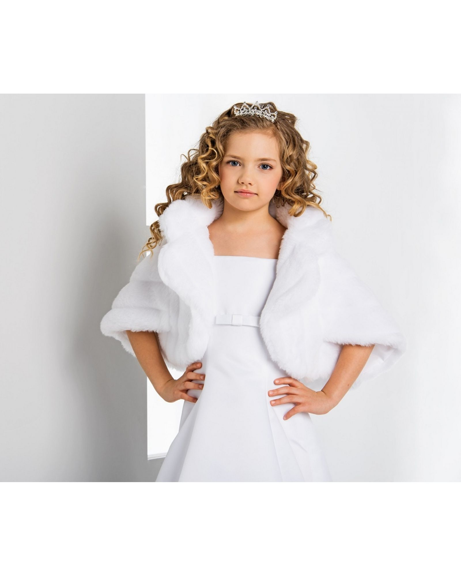 charlotte children's faux fur wedding bolero, childrens jacket
