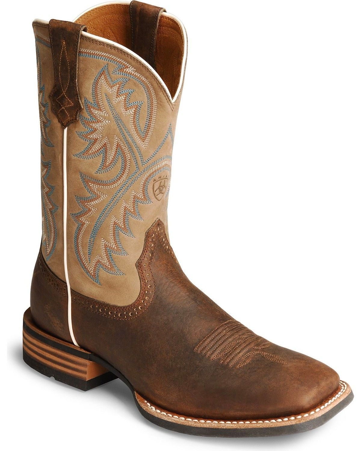 Ariat Mens Quickdraw Western Boots, Bark, hi-res