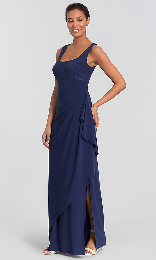 Image of Alex Evenings long navy blue MOB dress with bolero. Style: AX-
