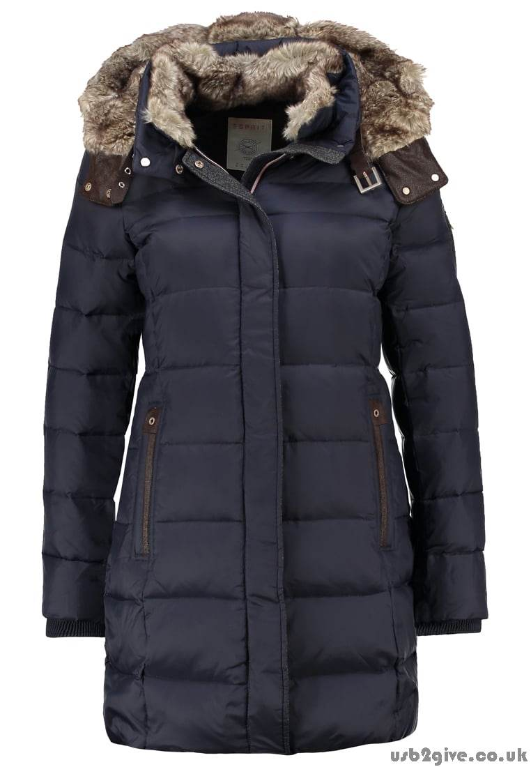 Reliably Esprit Women\'s Navy Winter Coat Down Coats