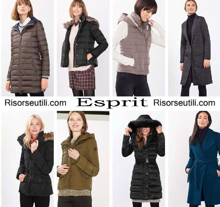 Down jackets Esprit fall winter 2016 2017 for women