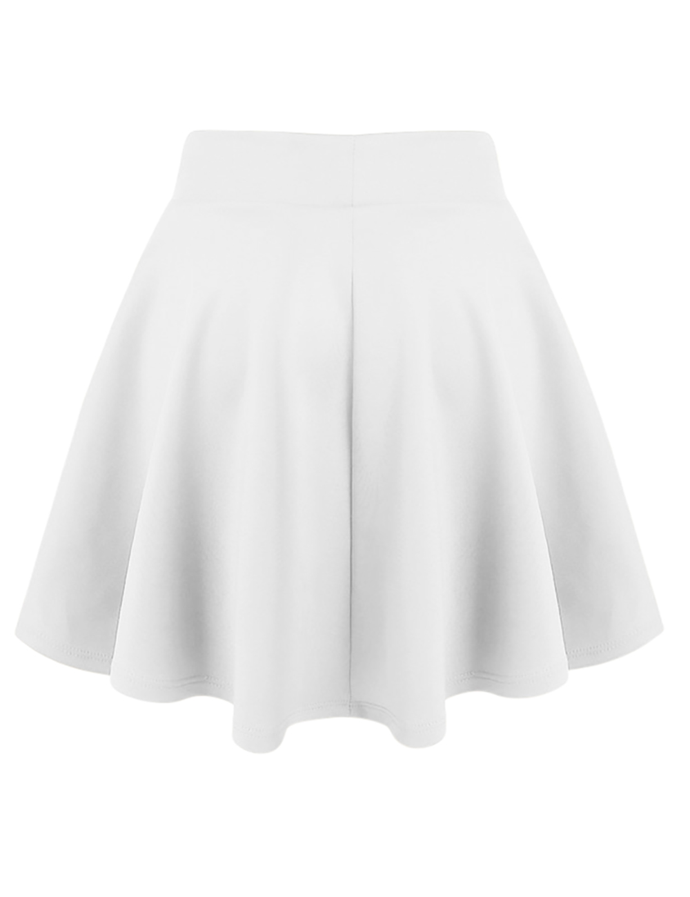 Womens-White-Skater-Skirt-A-Line-Flared-Skirt-