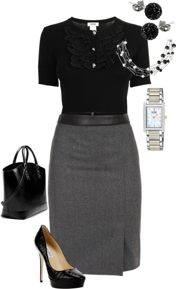 Skirt and Blouse Outfit for Funeral