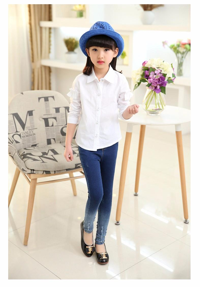 Kids Girls Jeans Pants 2016 Autumn New Big Girls Skinny Jeans Teenage Girls  Denim Trousers Children ...