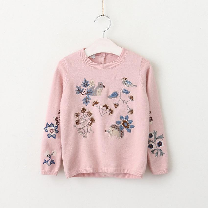Vieeolove Girls Kids Sweater Catton Embroidery Christmas Clothing 2018 New  Spring Autumn Winter Long Sleeve Princess Sweaters VL-234 Girls Dress  Sweater ...