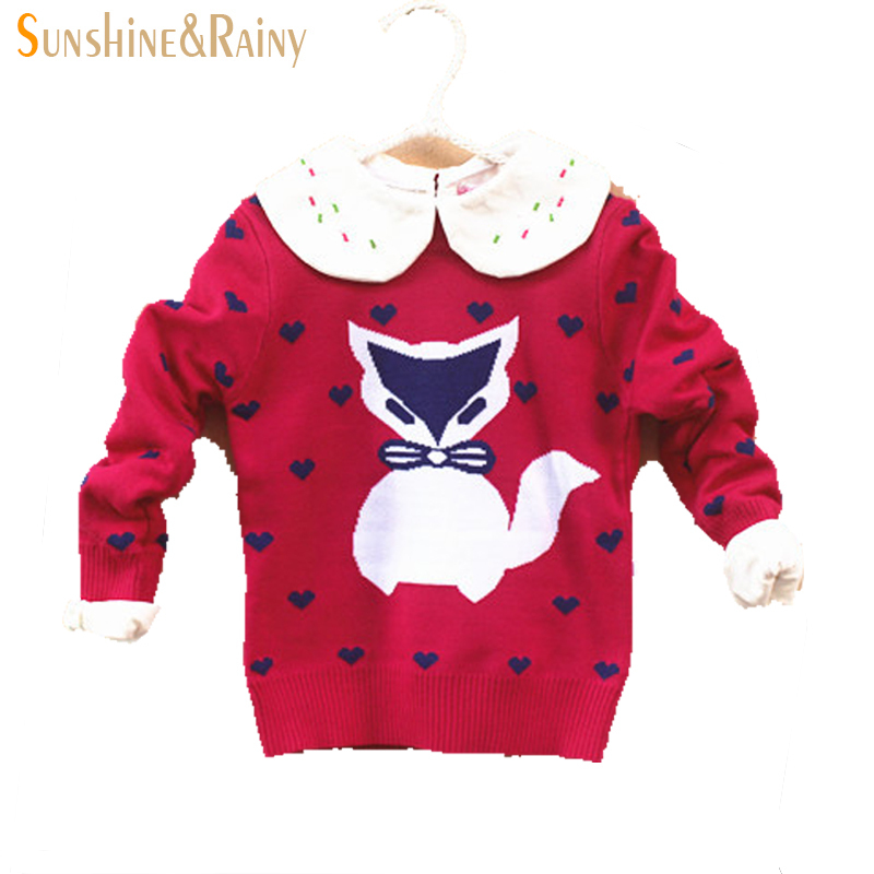 Buy New 2015 autumn winter girls knitted sweaters cotton kids sweaters fox  Double jacquard thicker section sweaters for girl 2T-6T in Cheap Price on  ...