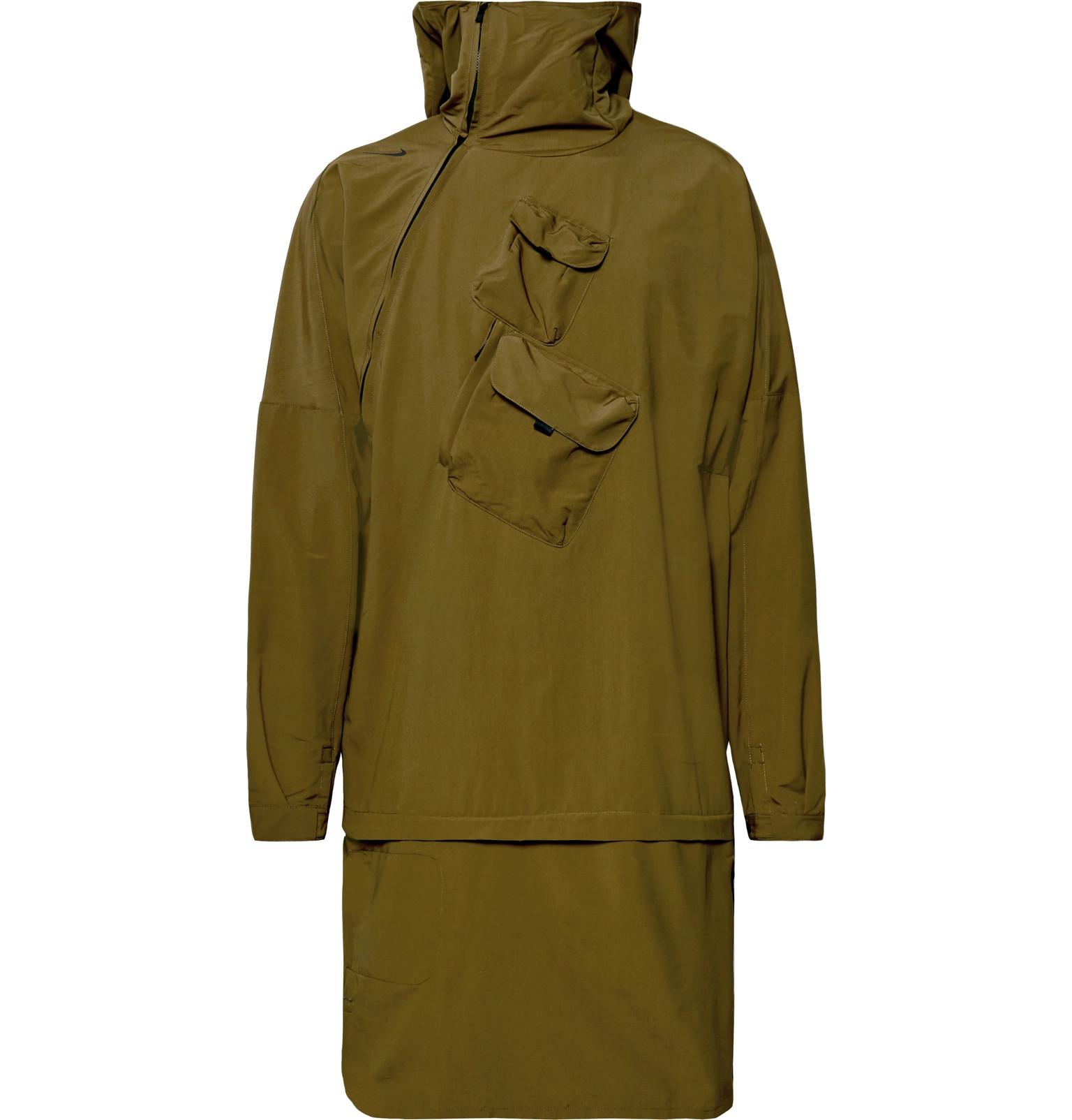 Nike. Menu0027s Green Lab Aae 2.0 Convertible Shell Hooded Jacket