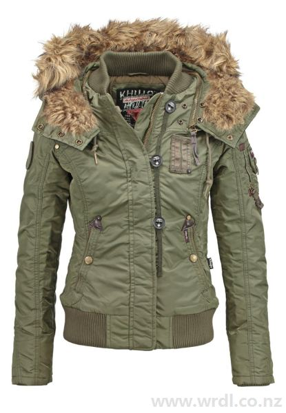 Buy khujo Women's ROVA Winter jacket olive at Wrdl.co.nz | Jackets