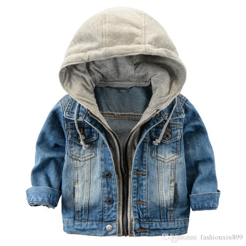 2017 Children'S Jacket Denim Boys Hooded Jean Jackets Girls Kids Clothing  Baby Coat Casual Outerwear New Brand Factory Childrens Lightweight Jackets  Kids ...
