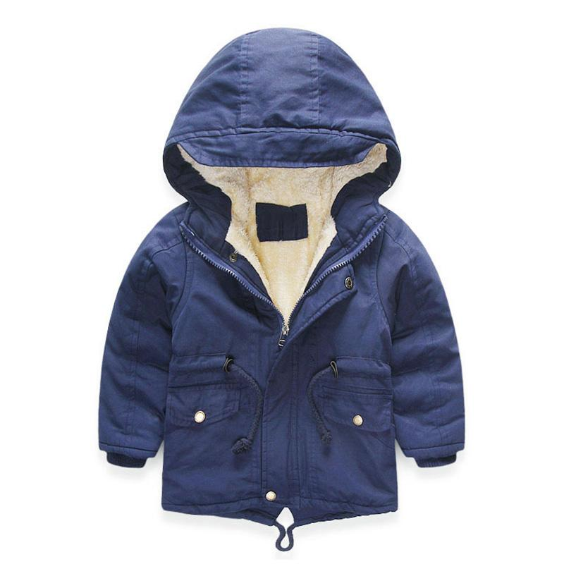 Winter Coat Boys Girl Windbreaker Fashion Kids Parka Thicken Warm Jacket  Children Plus Velvet Hooded Outerwear 4 5 6 8 10 Years Down u0026 Parkas Cheap  Down ...