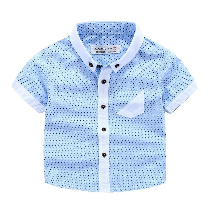 Handsome Baby Clothing For Wedding Gentle Boys Dots Summer Short Sleeve Shirt  Boy Tops 100%cotton Shirts Boy Kids Clothes Custom T Shirts For Toddlers ...