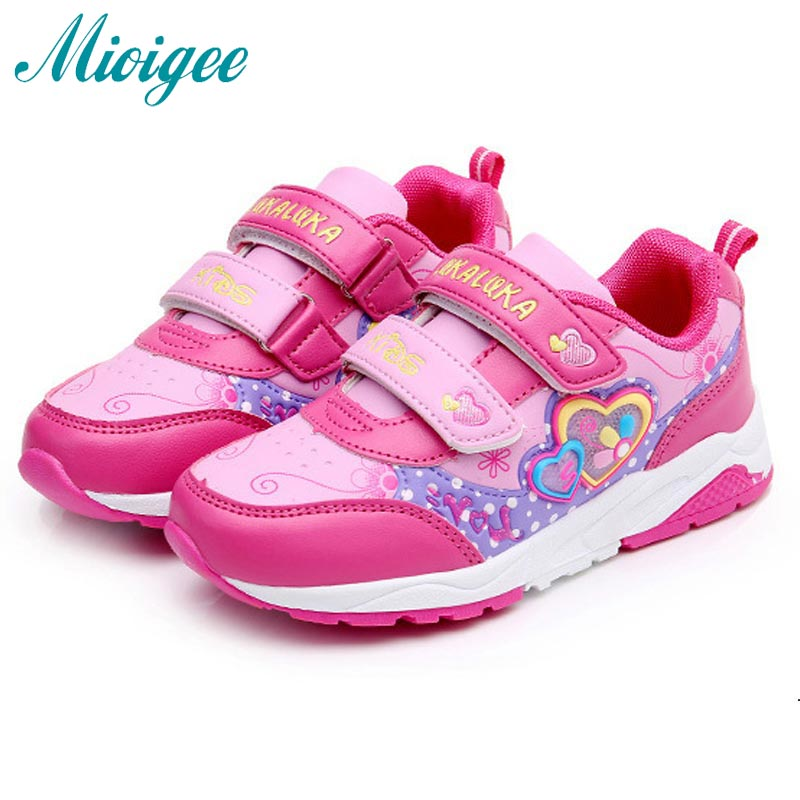 Tenis Infantil Kids shoes pink Heart Girls sneakers resistance sole  climbing Kids Sport casual sport shoes for girls infantile-in Sneakers from  Mother ...