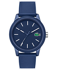 Lacoste Menu0027s 12.12 Blue Silicone Strap Watch 42mm