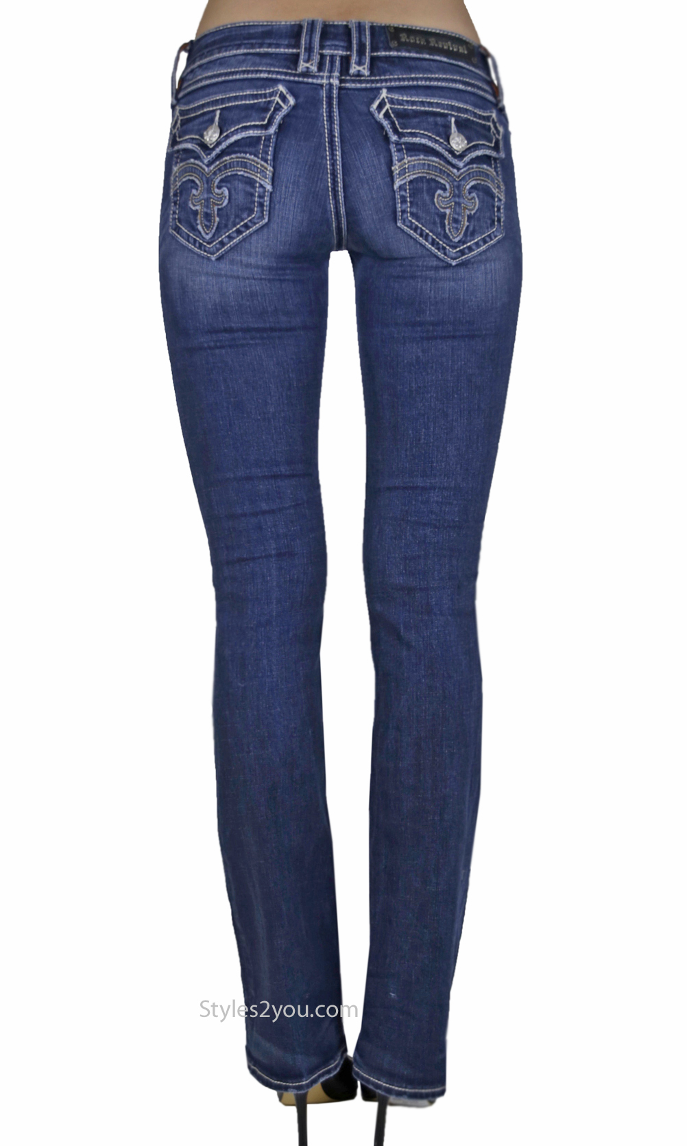 Debbie Ladies Bootcut Jeans Medium Blue Denim Rock Revival Jean · «